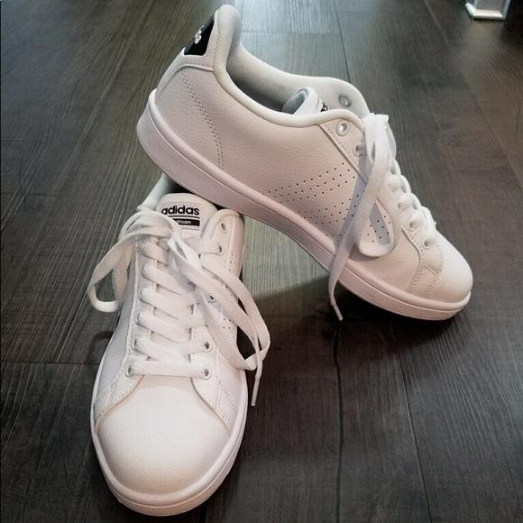 le adidas noi 85 di pelle bianca, scarpe da ginnastica w cloudfoam poshmark